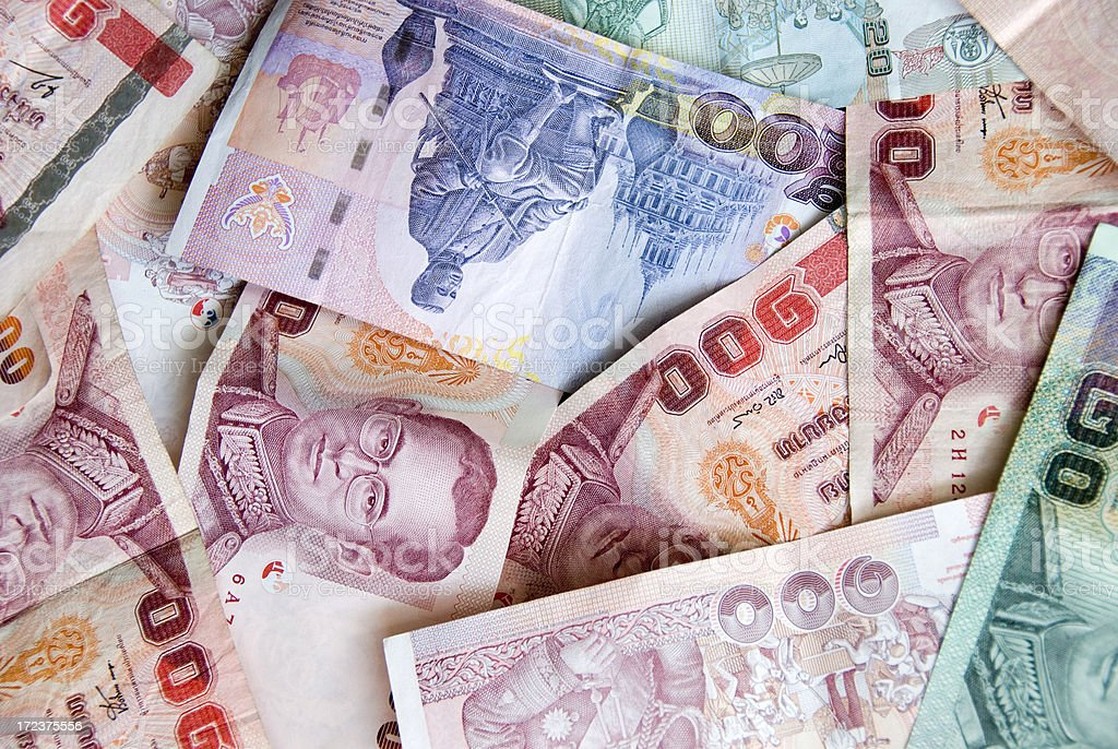 Thai currency royalty-free stock photo