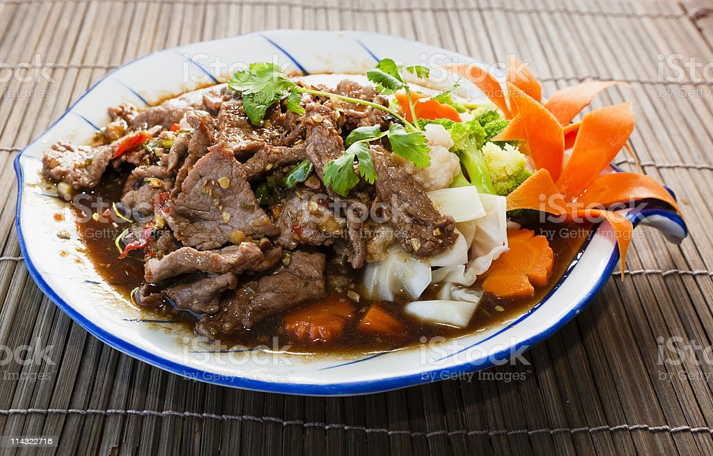 Thai curry Angry Beef stock photo