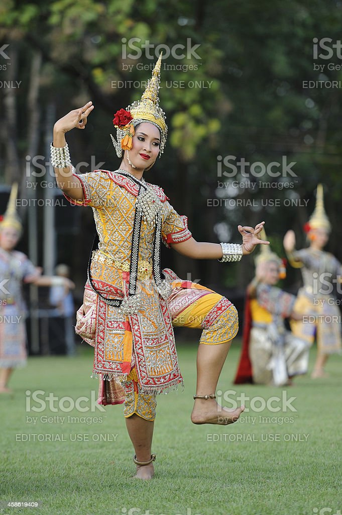 Thai dance royalty-free stock photo