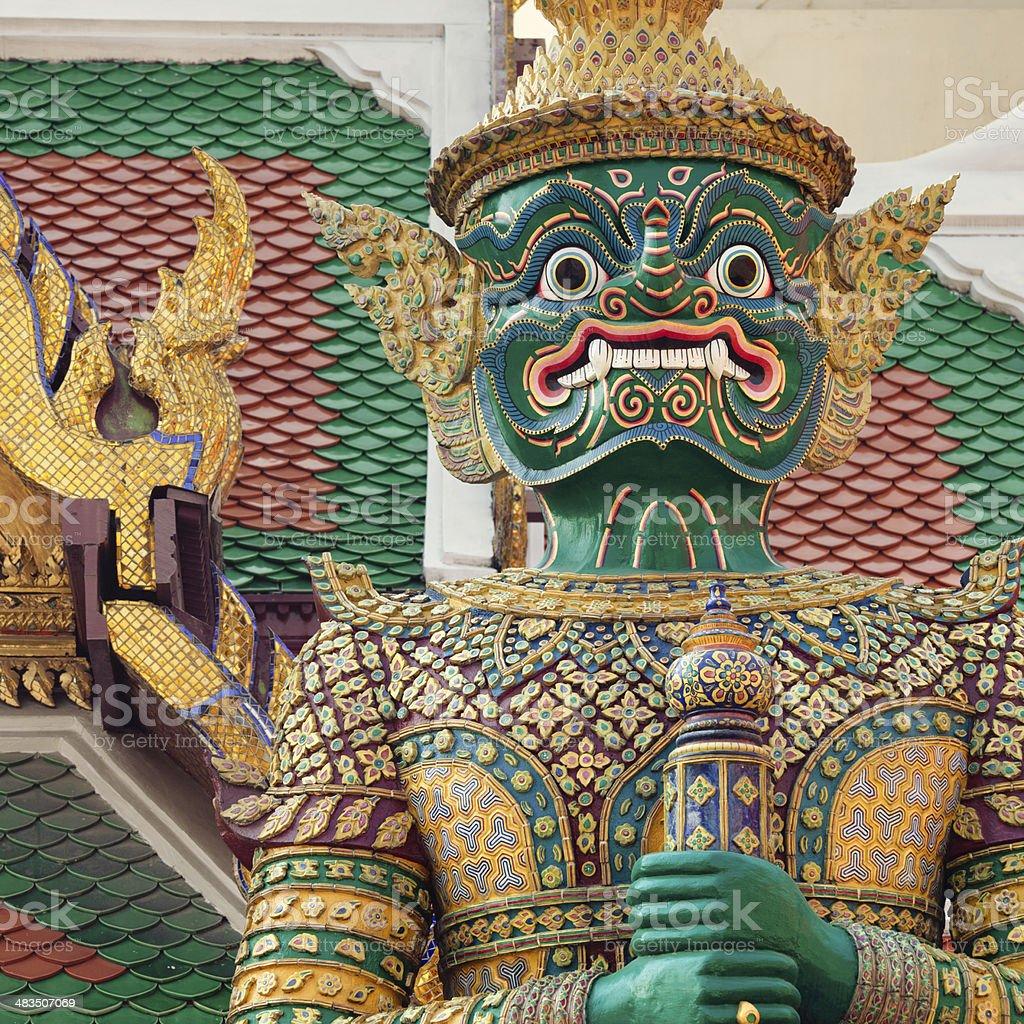 Thai demon sculpture royalty-free stock photo