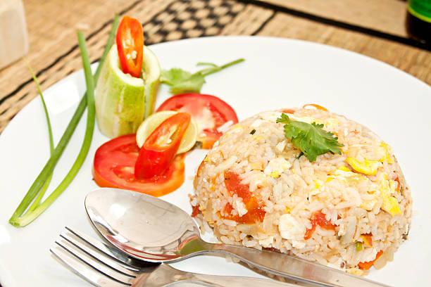 タイ料理: カオパッド ストックフォト