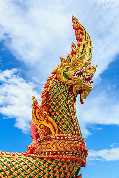Thailändische dragon king-Size-Bett oder der Naga-statue – Foto