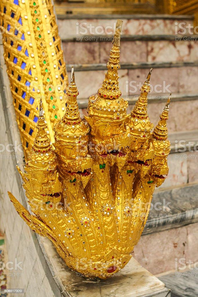 Thai dragons stock photo