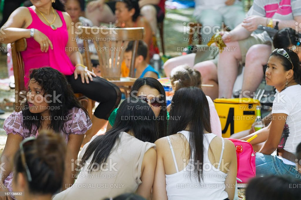 Thai festival in Ruhrgebiet stock photo