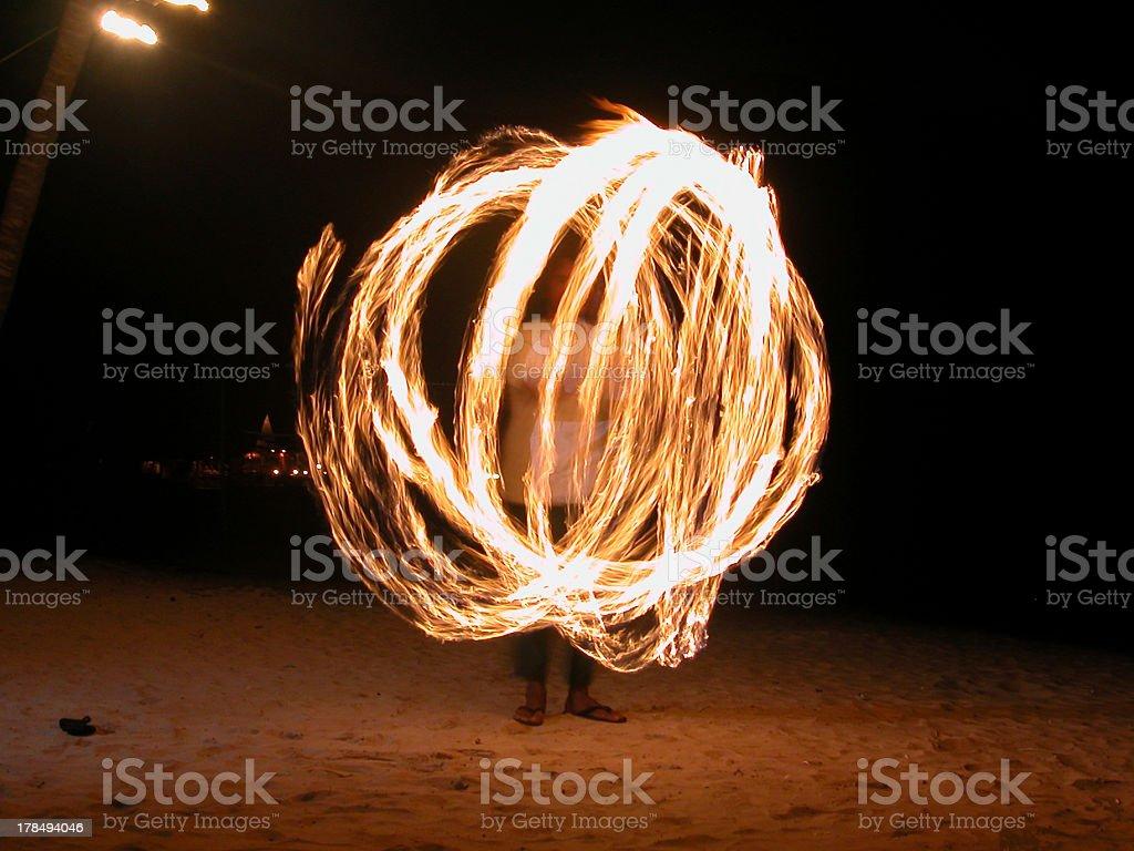 Thai Firedancer stock photo