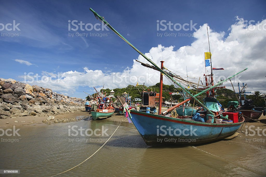 Thai fishing boats royalty-free stock photo
