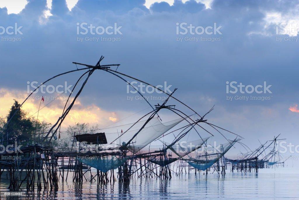 Thai fishing nets, fishing tackle royalty-free stock photo