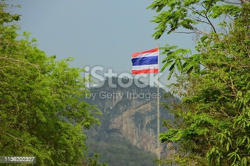 Just a shot of another flag, this one from Thailand at the Kaeng Krachan National Park.