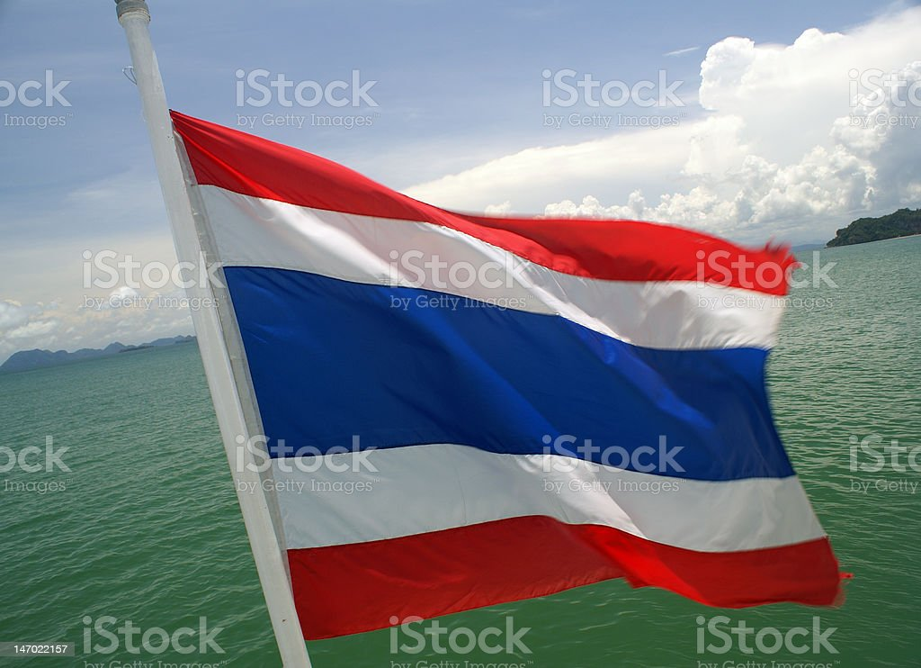 Thai flag royalty-free stock photo