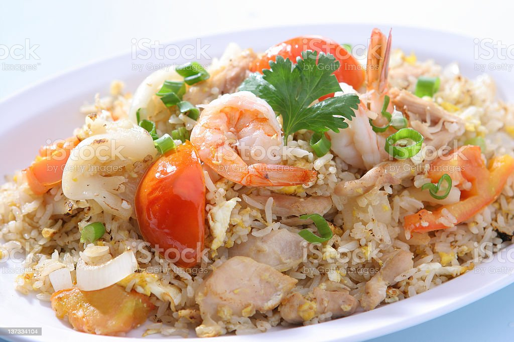 Thai food Combination Fried Rice royalty-free stock photo