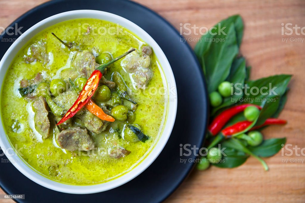 Thai Food: Green Curry stock photo