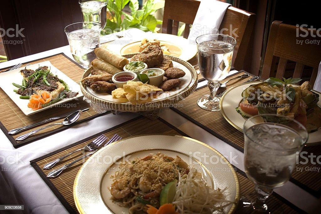 Thai Food on Table royalty-free stock photo