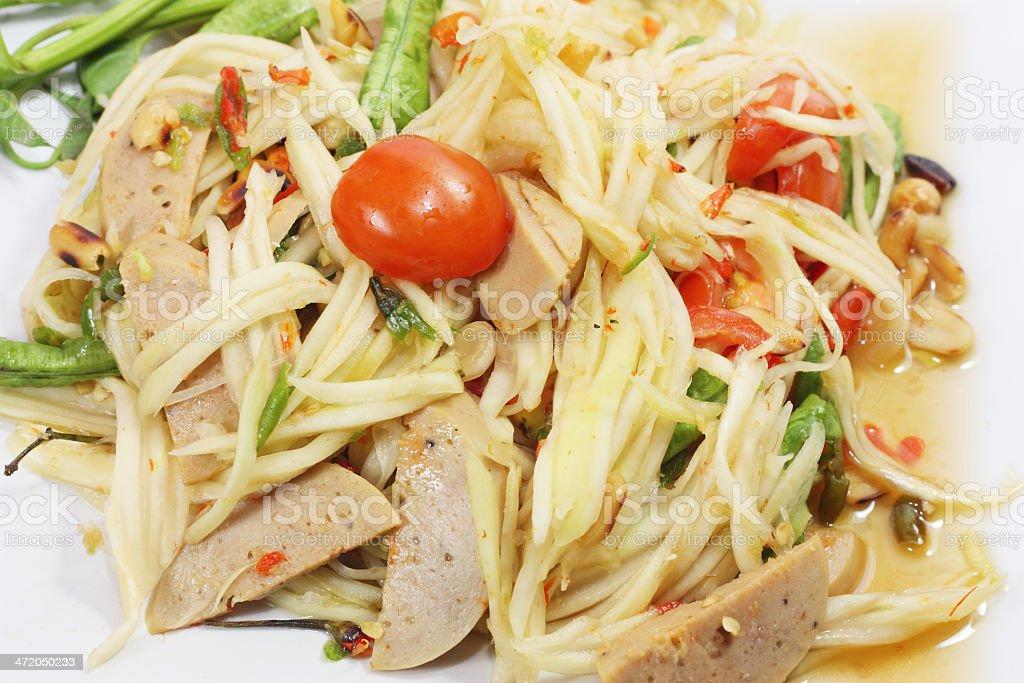 thai food papaya salad royalty-free stock photo