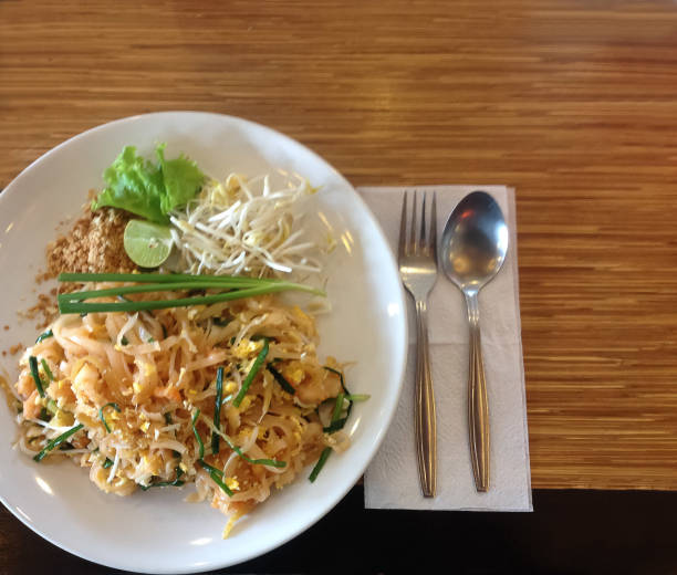 Thai food (Pad thai ) stock photo