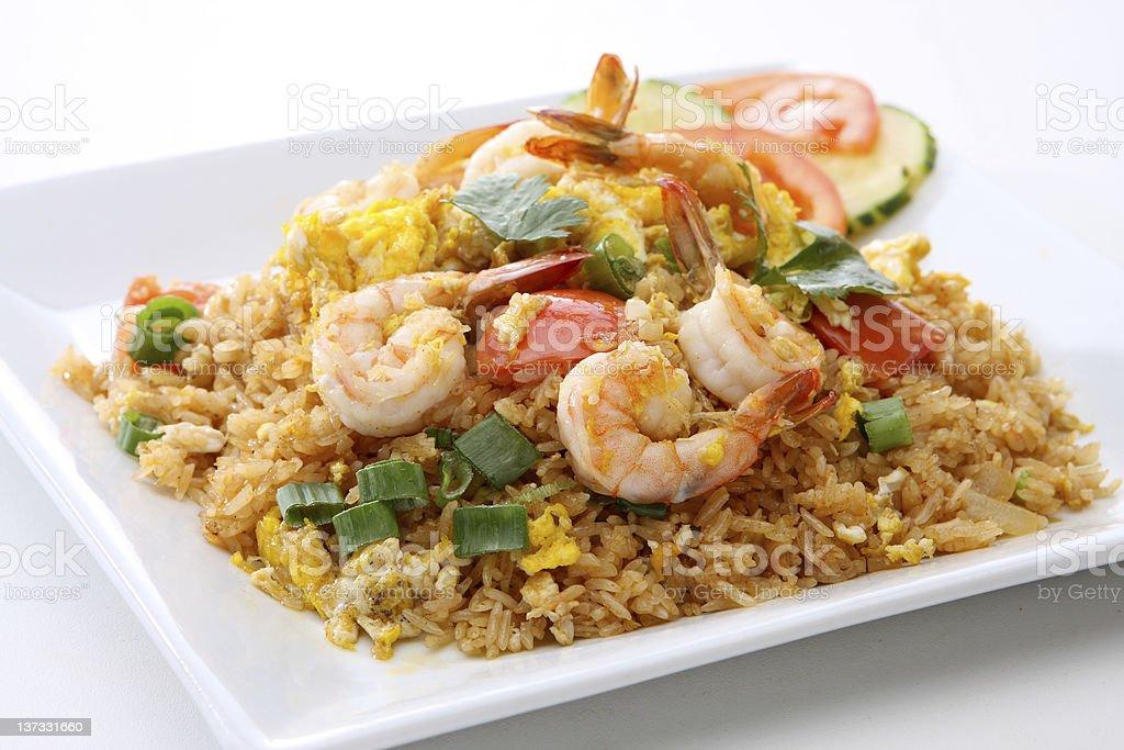 Thai Food Shrimp Fried Rice stock photo