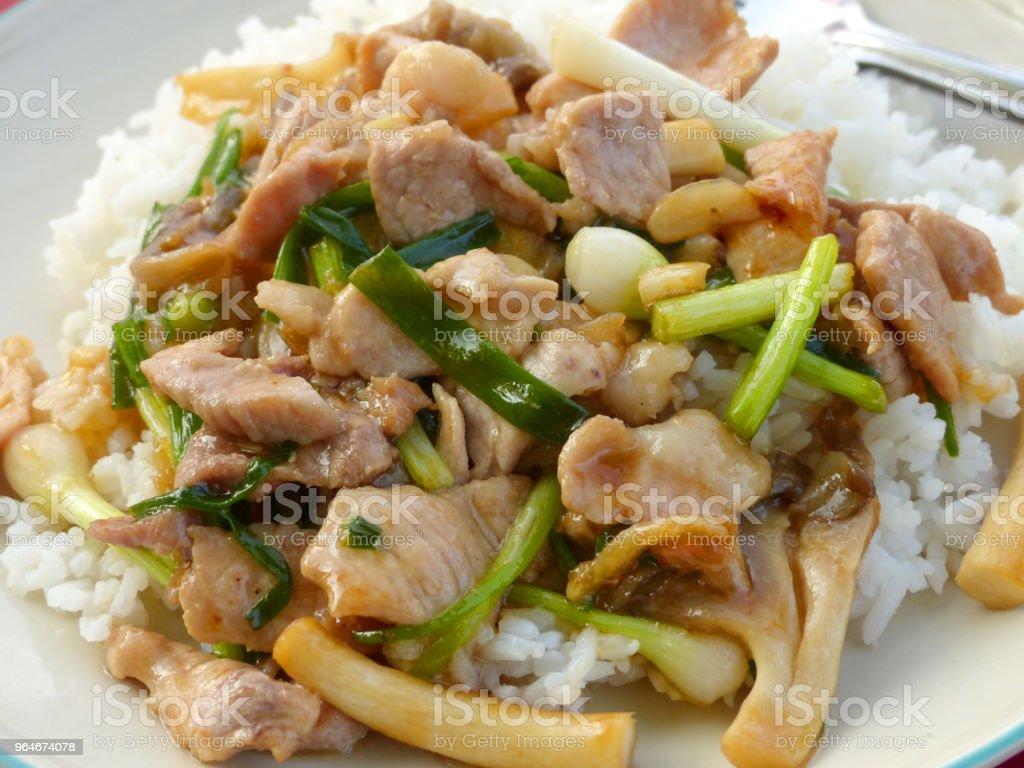 Thai food Thai spicy food, Fried pork. royalty-free stock photo