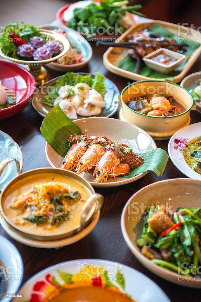 Thai foods. stock photo