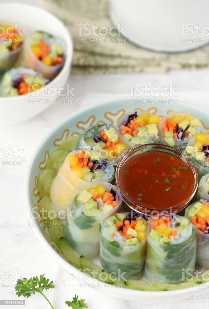 Thai Fresh Rolls stock photo
