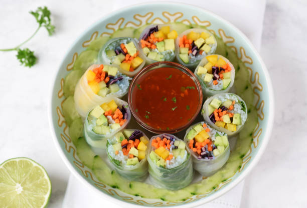 Thai Fresh Rolls stock photo