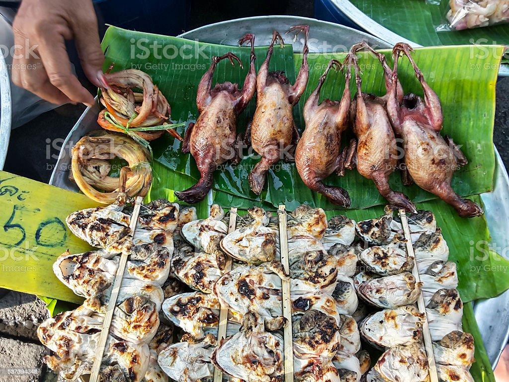 Тайский лягушка anuran барбекю стоковое фото