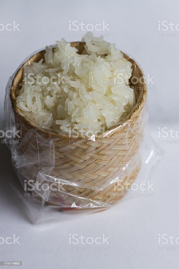 Thai glutinous rice stock photo