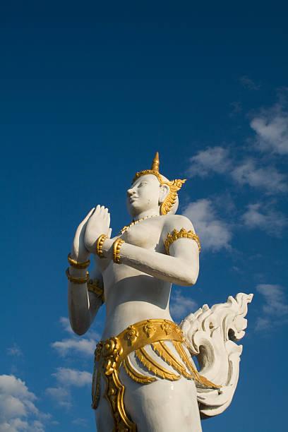 Thai God (Thep Kinnaree)(Kinnari) stock photo
