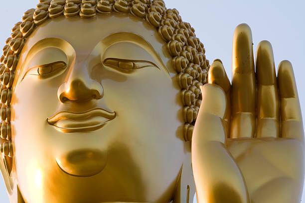 Thai God :Standing Buddha stock photo