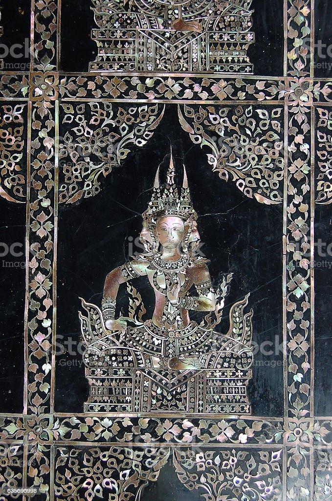 Thai Golden Buddha Statue royalty-free stock photo