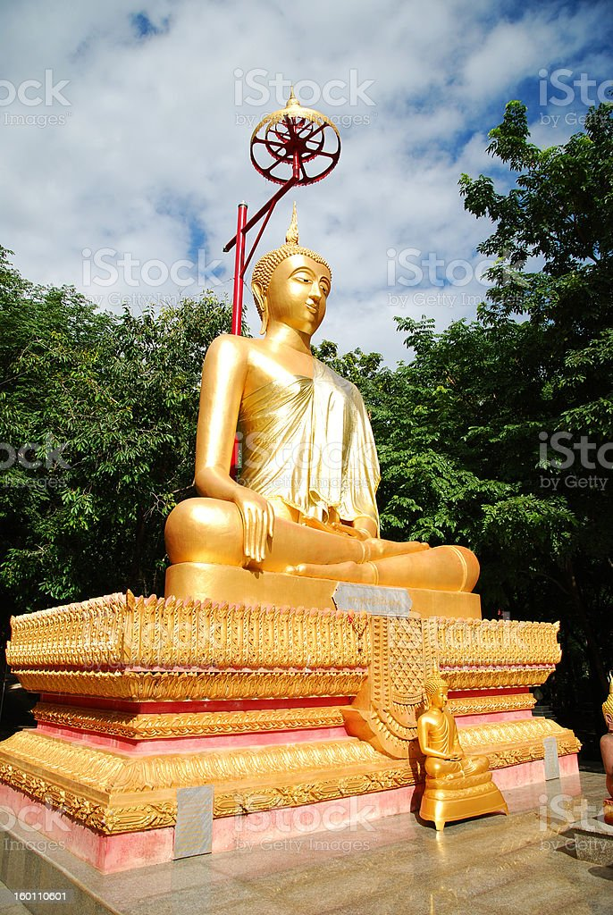 Thai Golden Budha Image royalty-free stock photo