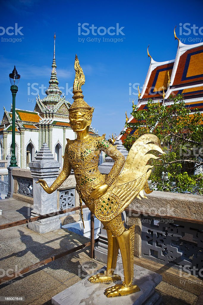 Thai Golden Statue stock photo