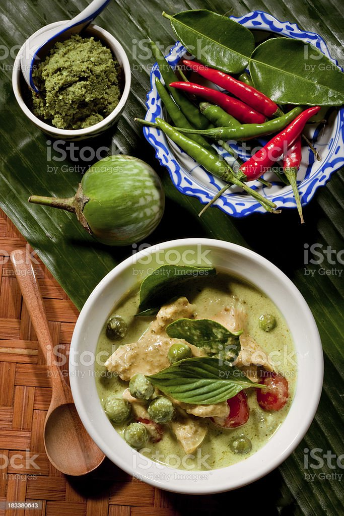 Thai Green Curry With Chicken royalty-free stock photo