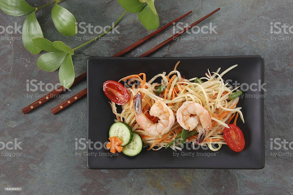 Thai Green Papaya Salad stock photo