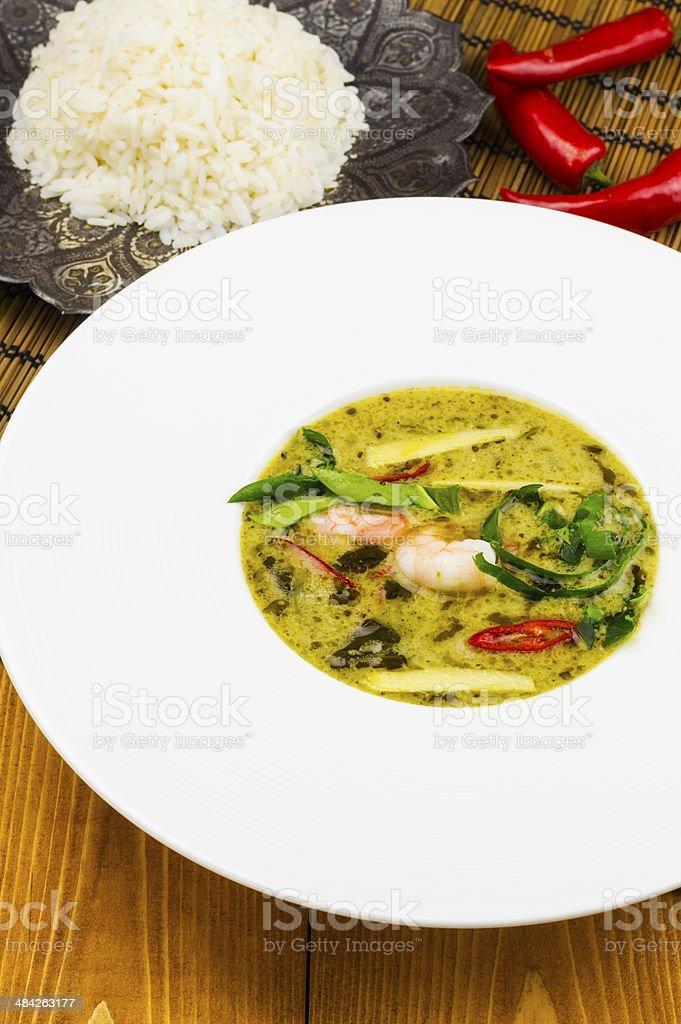 Thai green prawn curry royalty-free stock photo