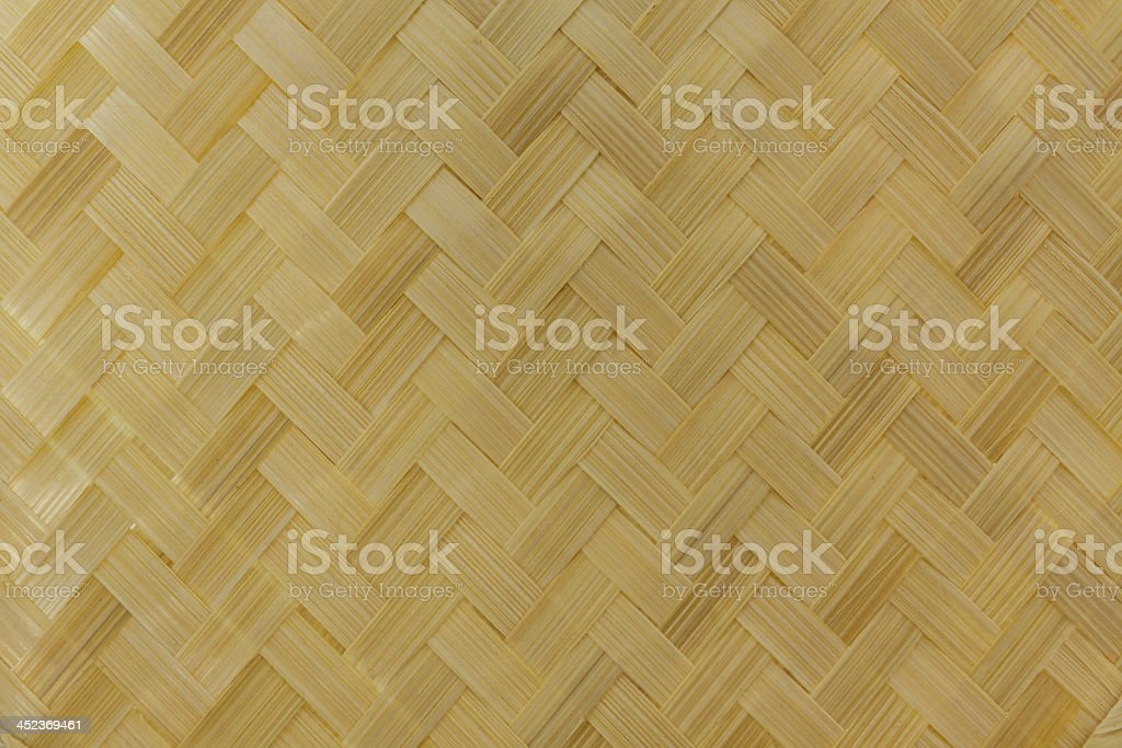 Thai handicraft of bamboo weave pattern stock photo