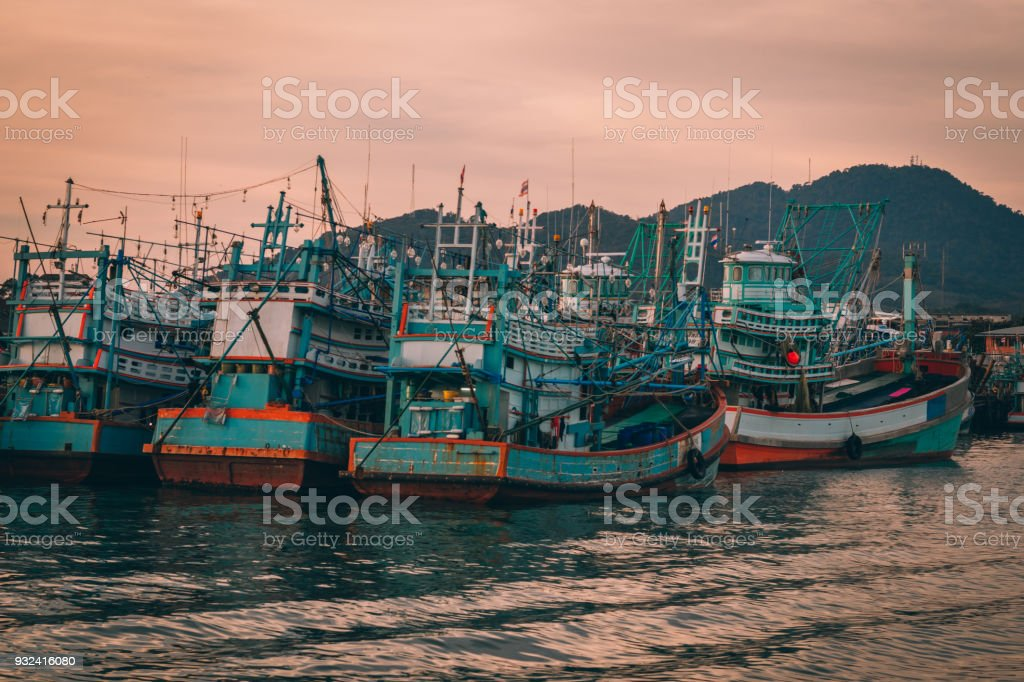 Thai Harbor stock photo
