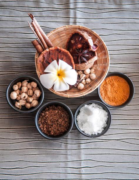 thai herbs - thai spa ingredients - pandan składnik zdjęcia i obrazy z banku zdjęć