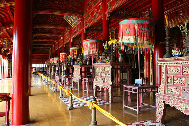 Thai Hoa Palace UNESCO World Heritage Site, Hue, Vietnam Thai Hoa Palace UNESCO World Heritage Site, Hue, Vietnam huế stock pictures, royalty-free photos & images