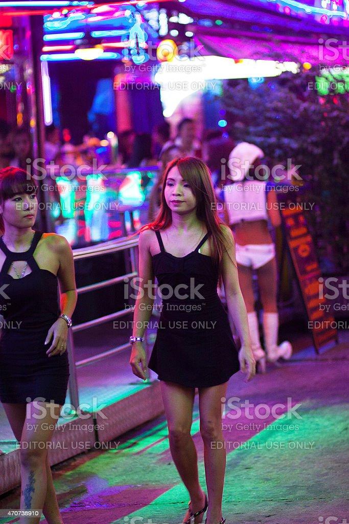 Thai Hooker Wearing Black Dress In Soi Cowboy Stock Photo