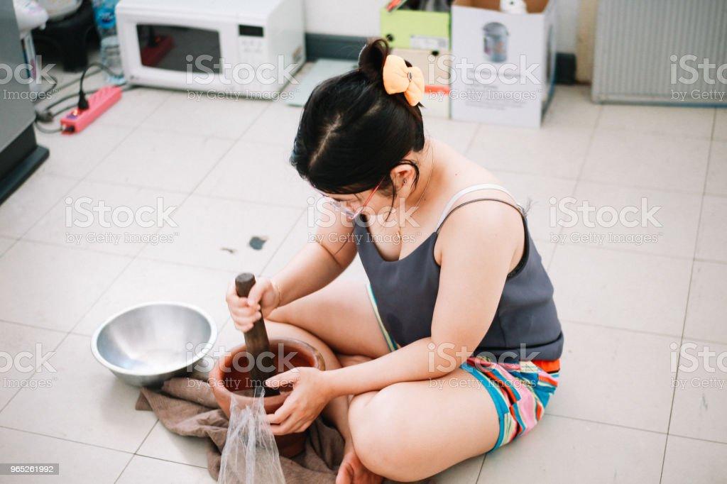 Thai Housewife zbiór zdjęć royalty-free