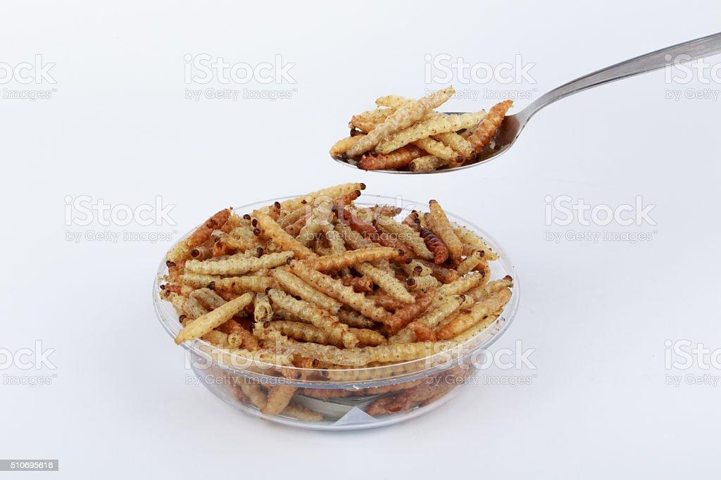 Thaï insectes, frites insectes vers de farine pour un en-cas. - Photo