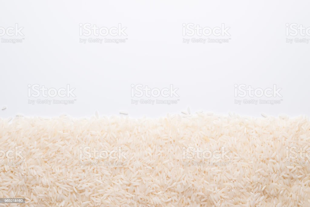 Thai jasmine rice on white royalty-free stock photo