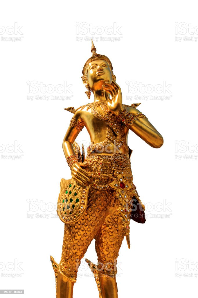 Thai Literary Statue stock photo