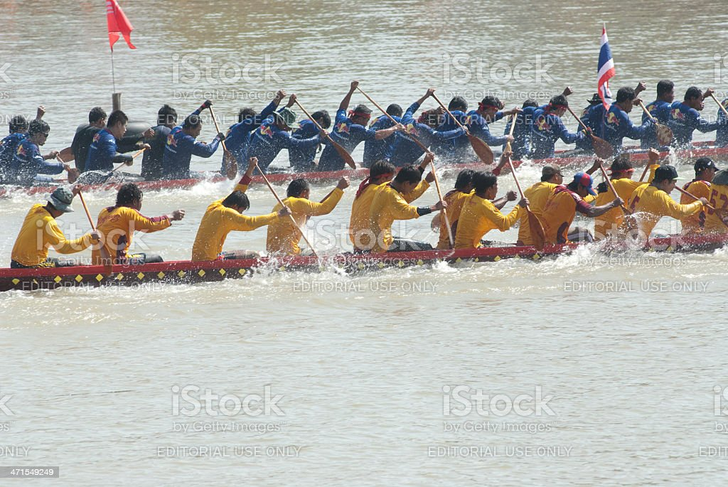 Thai longboat racing . stock photo
