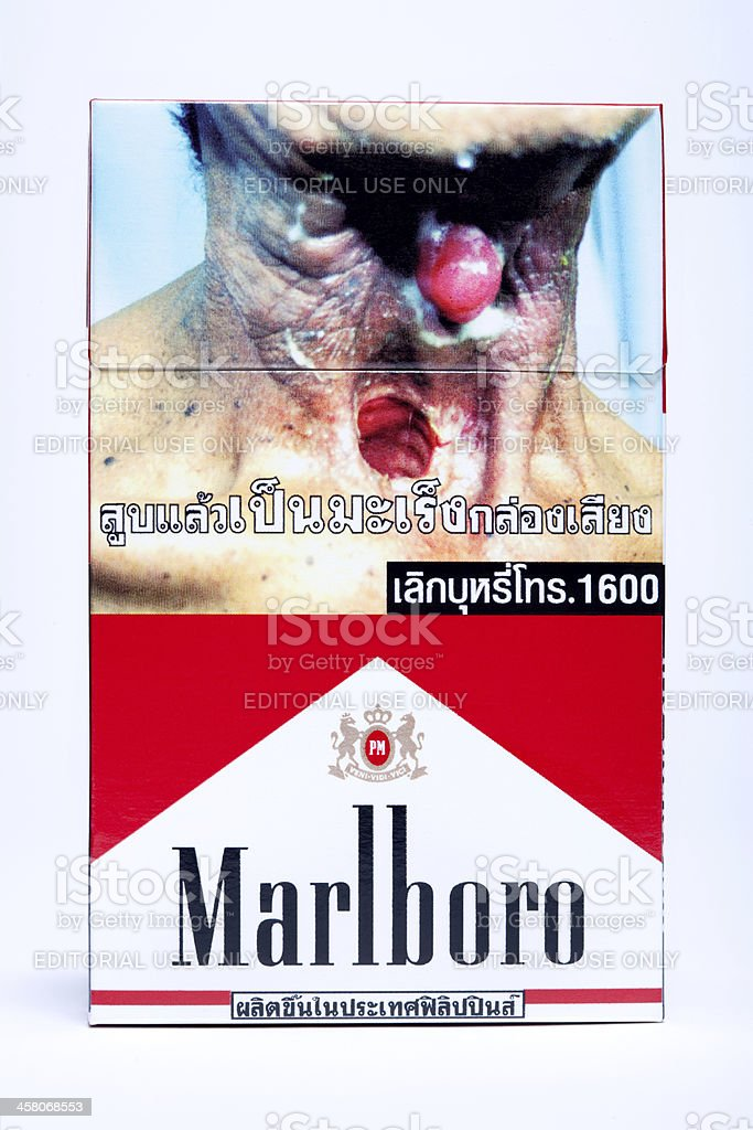 Thai Marlboro Cigarette Pack - With Clipping Path stock photo