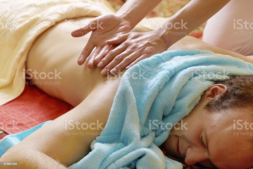 thai massage royalty-free stock photo