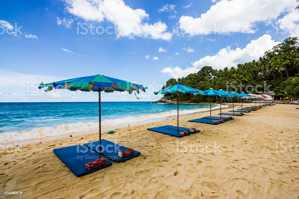 Thai Massages on the beach stock photo