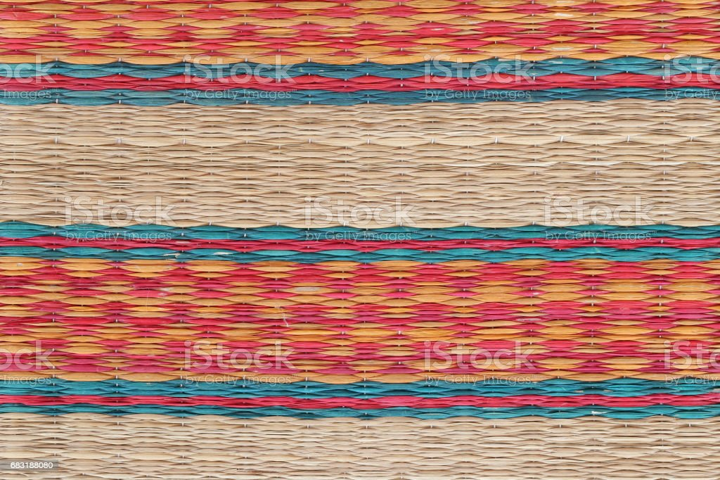 Thai mat,pattern of the mat in local traditional Thailand. royalty-free 스톡 사진