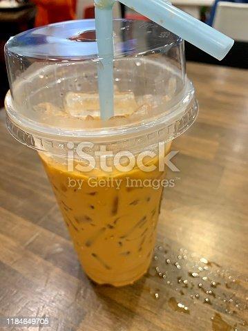 Thai Milk Tea (cha yen) at Greenway Food Station in Hat Yai Thailand