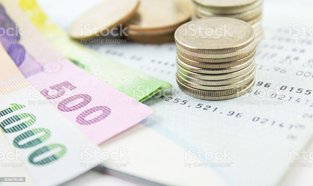 Thai money bath stock photo