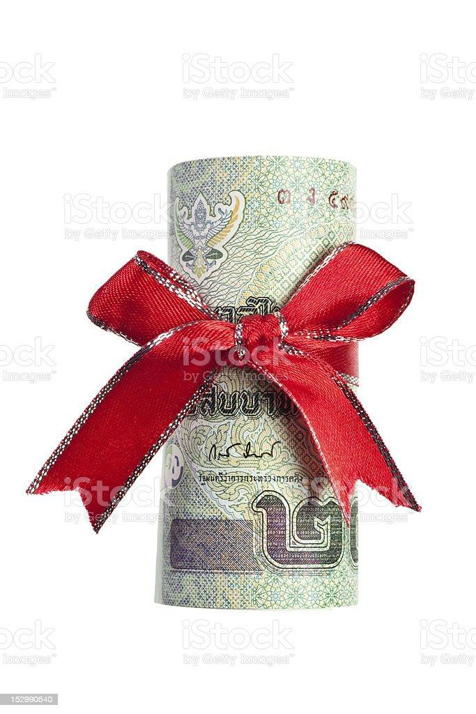 Thai money gift royalty-free stock photo